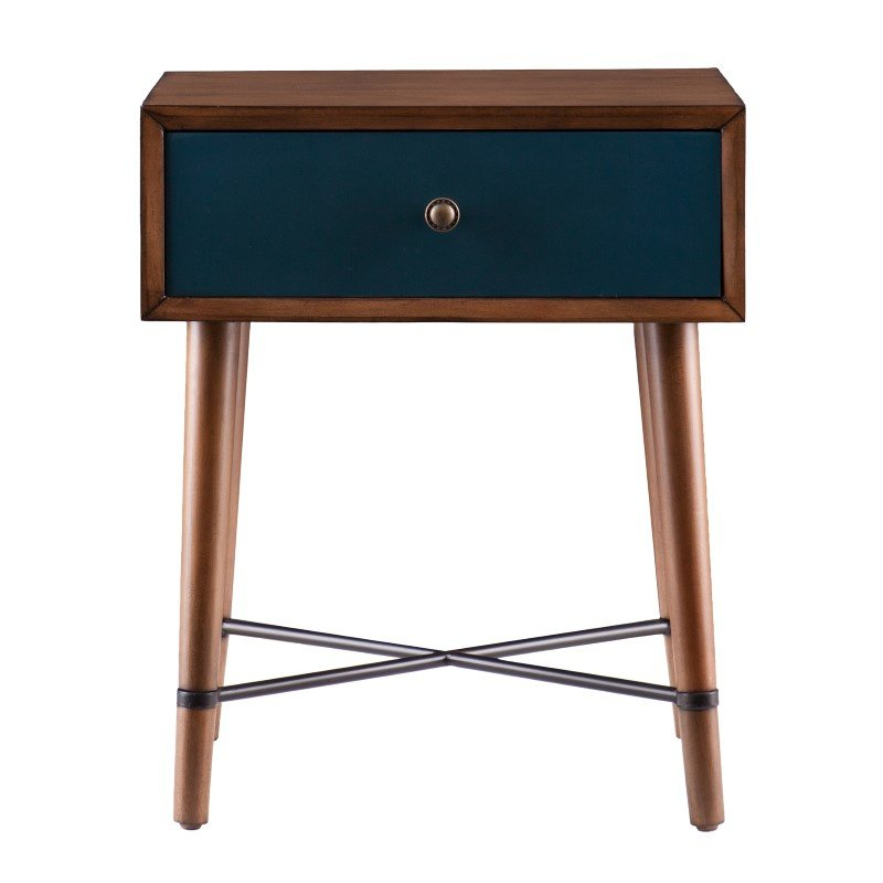 Southern Enterprises Norwich Accent Table in Blue