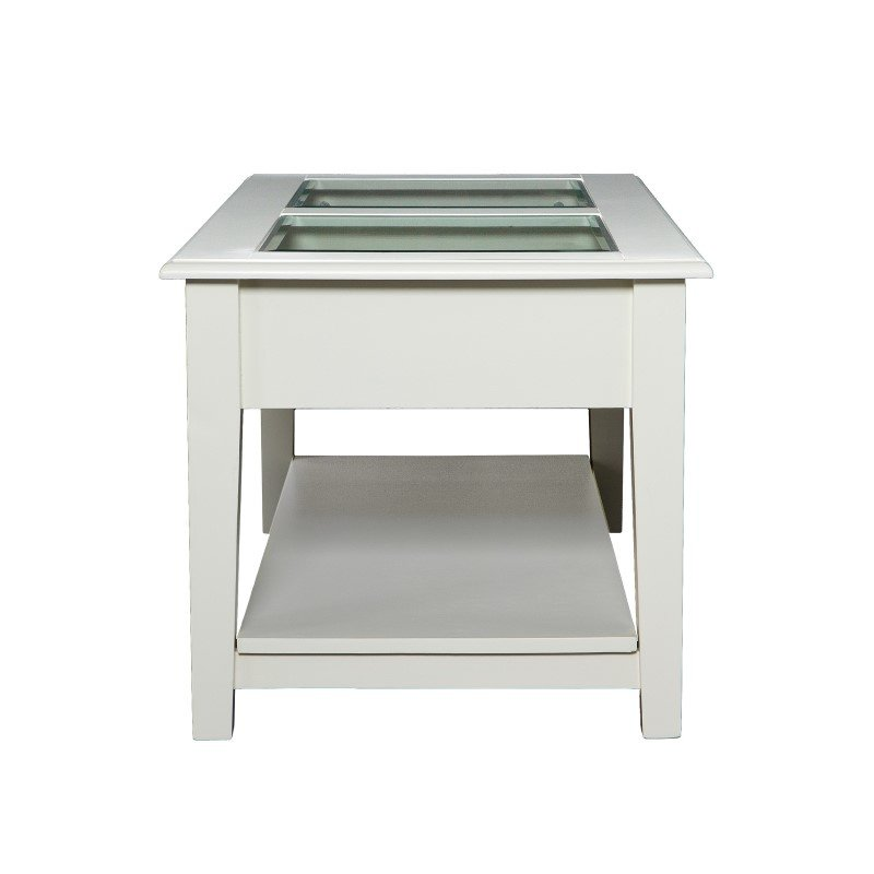Southern Enterprises Panorama Cocktail Table in Off-White