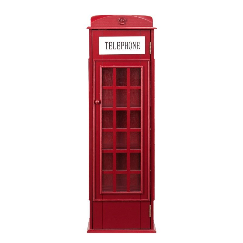 Southern Enterprises Phone Booth Storage Cabinet