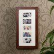 Southern Enterprises Photo Display Wall Mount Jewelry Armoire in Cherry