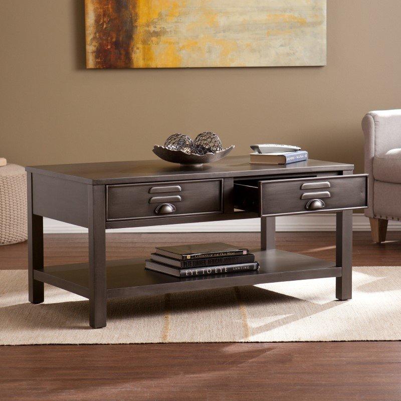 Southern Enterprises Radcliff Metal Cocktail Table