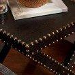 Southern Enterprises Reptilian Nailhead X Accent Table in Black