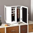 Southern Enterprises Shelby Table-Top Jewelry Armoire in White