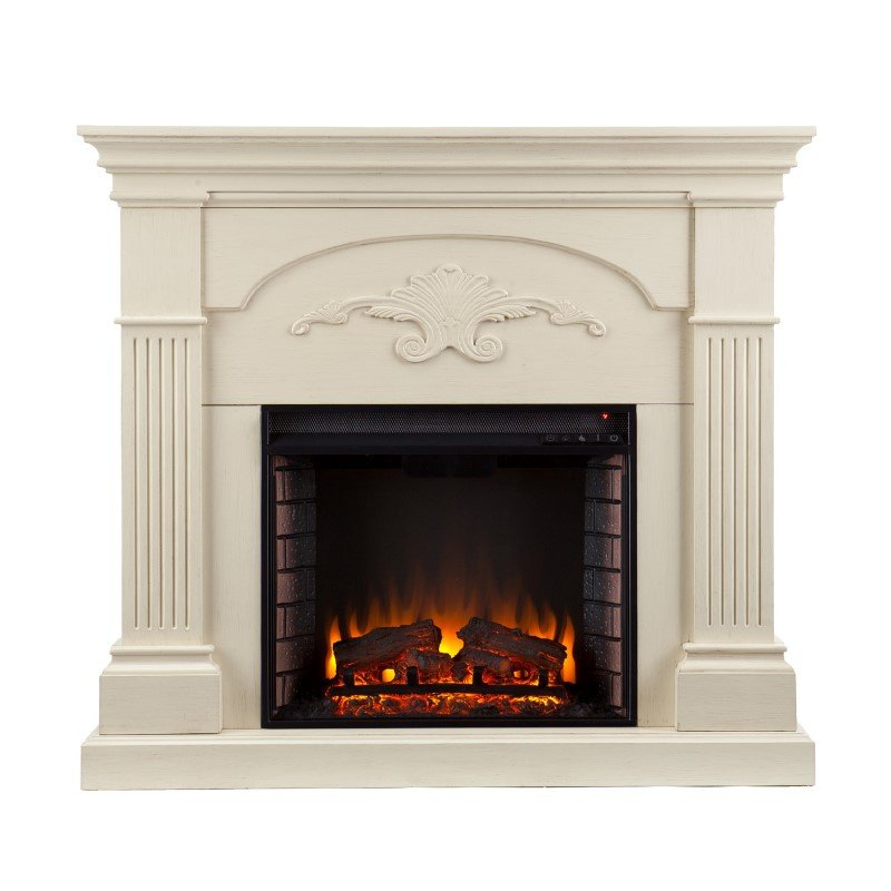 Southern Enterprises Sicilian Harvest Electric Fireplace in Ivory