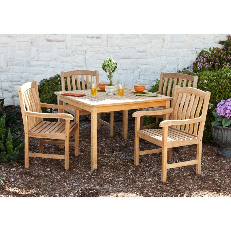 Southern Enterprises Summersby Teak 5-Piece Dining Set