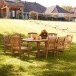 Southern Enterprises Teak Dining 9-Piece Set