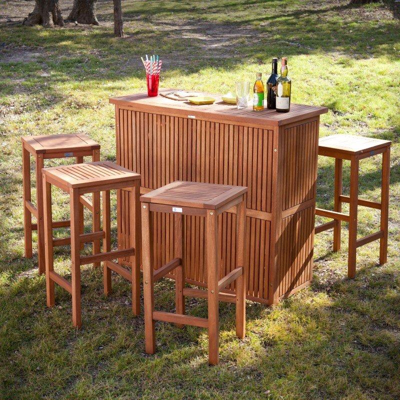 Southern Enterprises Trinidad Outdoor Bar 3-Piece Set