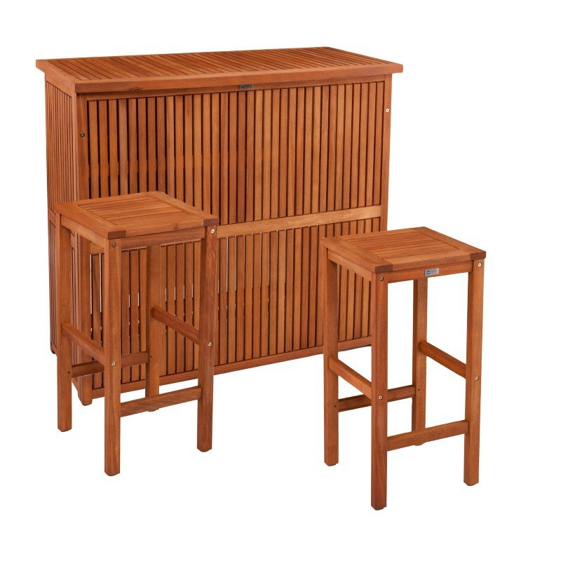 Southern Enterprises Trinidad Outdoor Barstools in 2-Piece Set