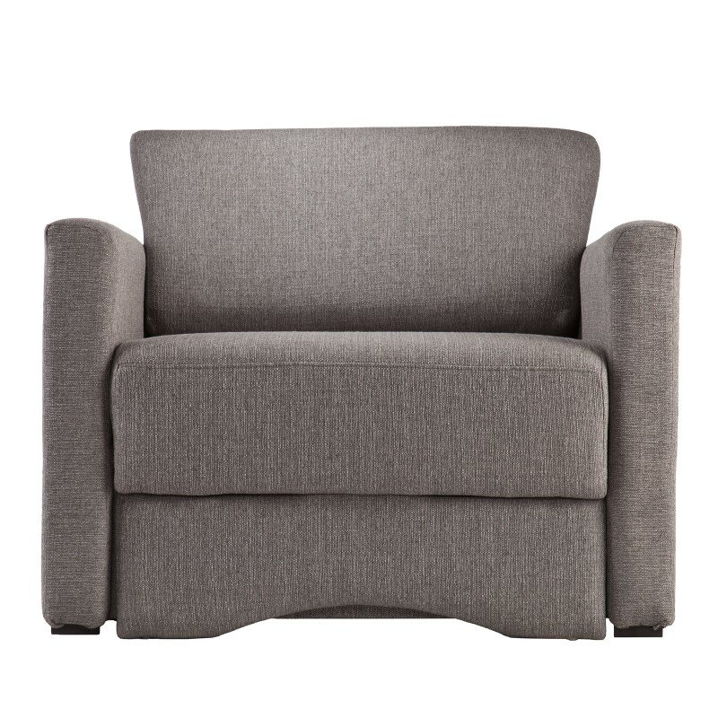 Southern Enterprises Tyndall Sleeper Chair with Storage in Gray