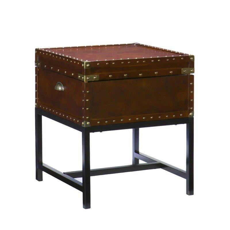 Southern Enterprises Voyager Storage End Table in Espresso
