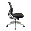 Space Seating 2-to-1 Synchro Tilt Light Professional AirGrid Back and Black Bonded Leather Seat Managers Chair with Flip Arms