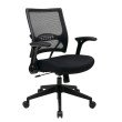 Space Seating 2-to-1 Synchro Tilt Professional AirGrid Back and Mesh Seat Managers Chair with Flip Arms and Angled GunMetal Coated Base
