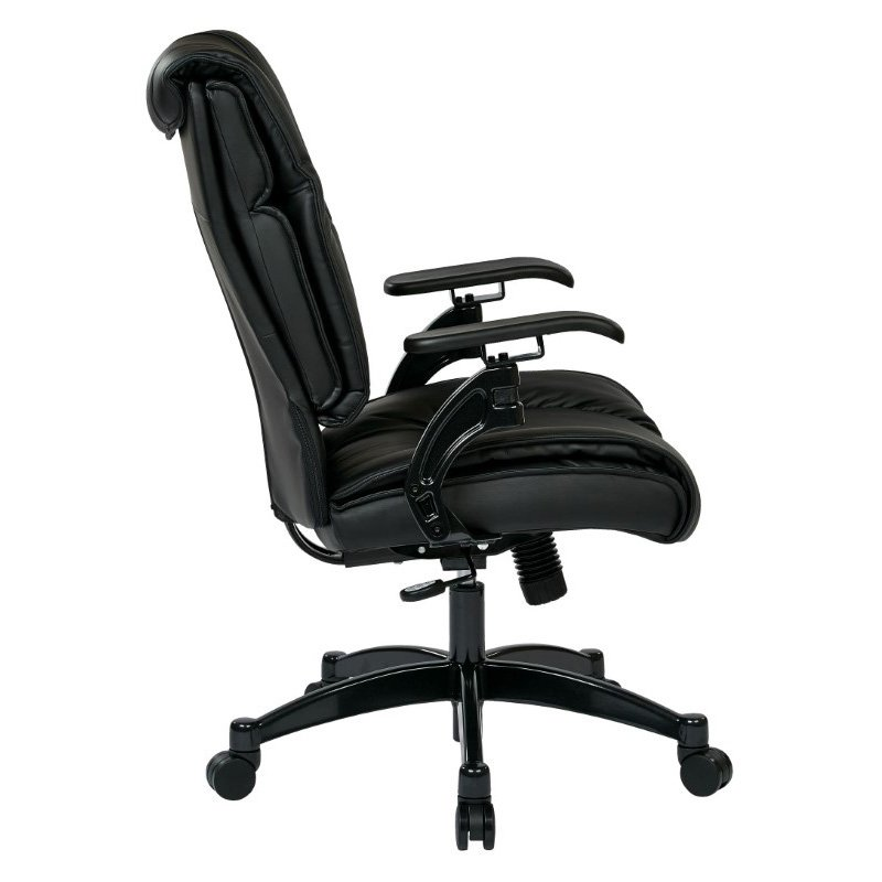 Space Seating Black Bonded Leather Conference Chair