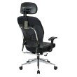 Space Seating Black Bonded Leather Managers Chair
