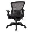 Space Seating CHX Dark Breathable Mesh Back and Padded Bonded Leather Seat Managers Chair