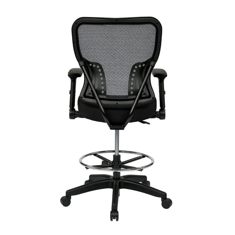 Space Seating Deluxe Air Grid Back and Padded Mesh Seat Chair with 4-Way Adjustable Flip Arms