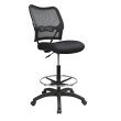 Space Seating Deluxe AirGrid Back Drafting Chair in Black