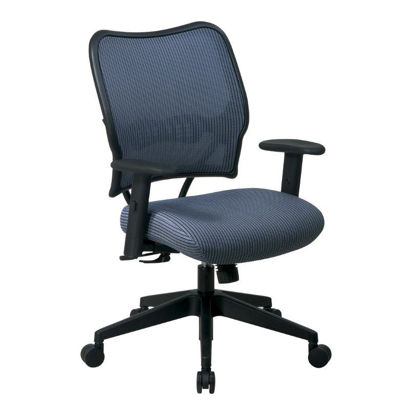 Space Seating Deluxe Chair with Blue Mist VeraFlex Back and VeraFlex Fabric Seat