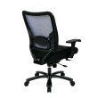 Space Seating Double AirGrid Big & Tall Back and Black Mesh Seat Ergonomic Chair