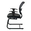 Space Seating Professional Air Grid Back Visitors Chair with Bonded Leather Seat