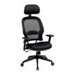 Space Seating Professional AirGrid Back and Mesh Seat Chair with Adjustable Headrest