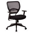 Space Seating Professional Black AirGrid Back Managers Chair with Black Mesh Fabric Seat