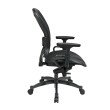 Space Seating Professional Black Breathable Mesh Chair with GunMetal Finish Accents