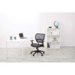 Space Seating Professional Dark Air Grid Back Managers Chair with Black Bonded Leather Seat