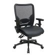 Space Seating Professional Dual Function Ergonomic AirGrid Back and Leather Seat Chair