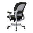 Space Seating Professional Light Air Grid Back and Bonded Leather Seat Chair