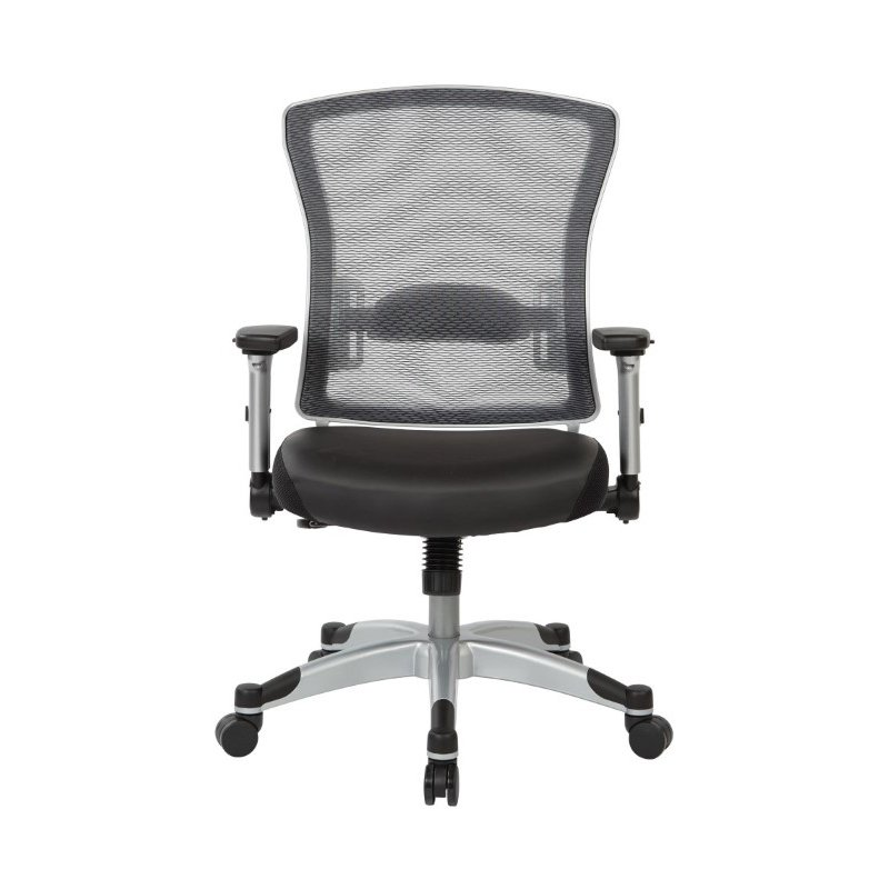 Space Seating Professional Light AirGrid Back Chair with Memory Foam