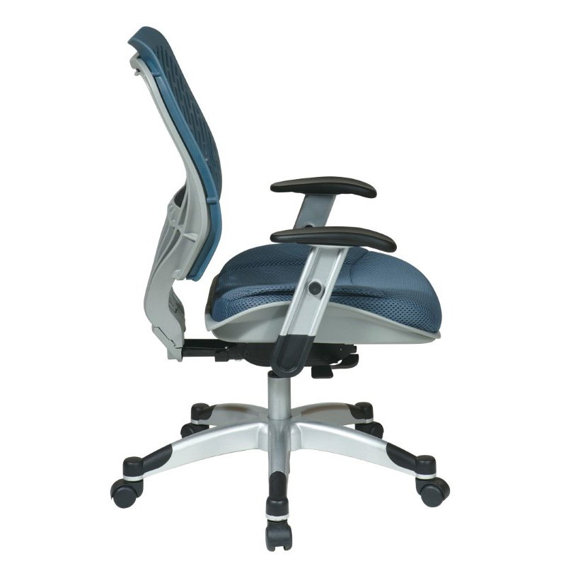 Space Seating Unique Self Adjusting Blue Mist SpaceFlex Back and Raven Mesh Seat Managers Chair