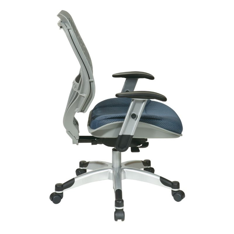 Space Seating Unique Self Adjusting Fog SpaceFlex Back and Raven Mesh Seat Managers Chair