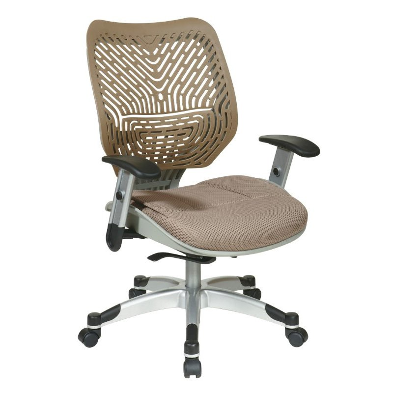 Space Seating Unique Self Adjusting Latte SpaceFlex Back and Raven Mesh Seat Managers Chair