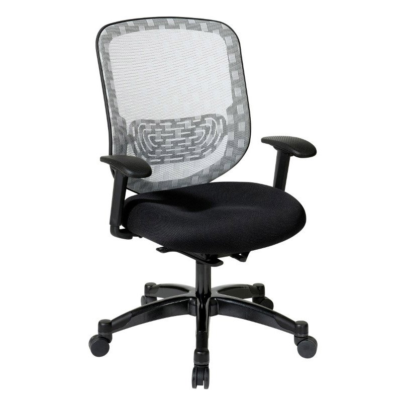 Space Seating White Dura Flex With Flow Through Technology Back With Black Mesh Seat