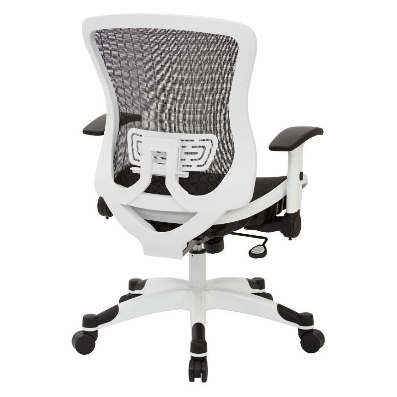 Space Seating White Frame CHX Dark Breathable Mesh Seat and Back Manager Chair