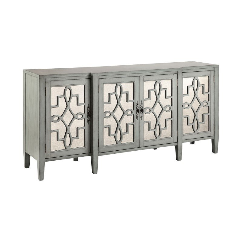 Stein World Lawrence Cabinet In Soft Gray-Blue (13152)