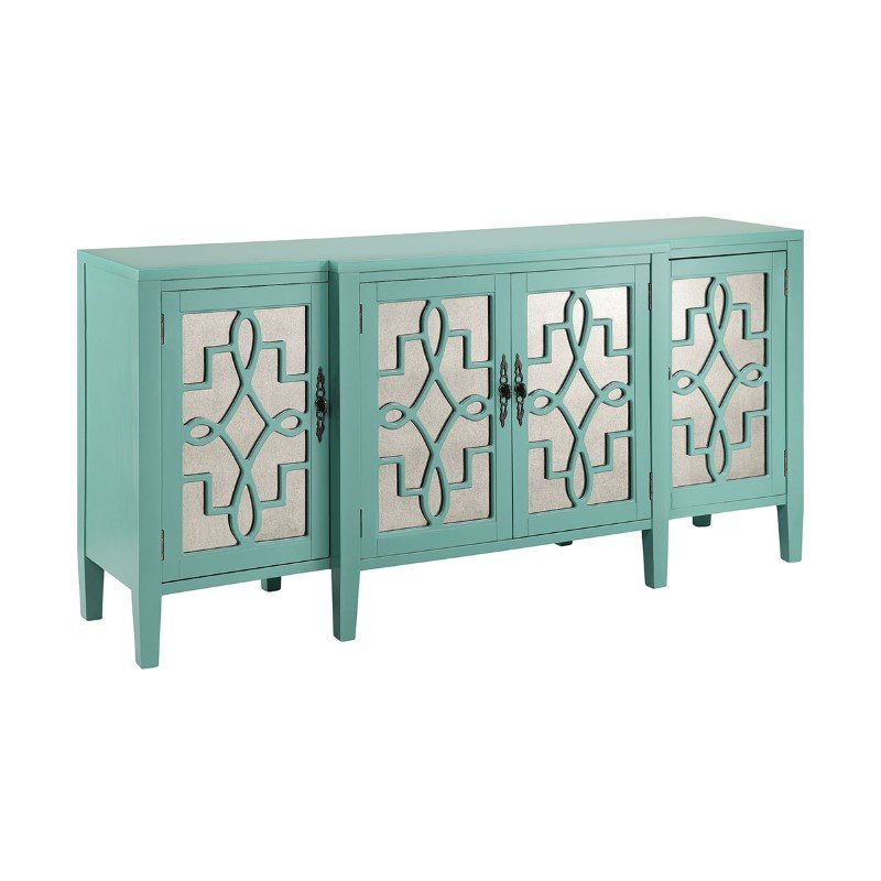 Stein World Lawrence Cabinet In Turquoise (13151)