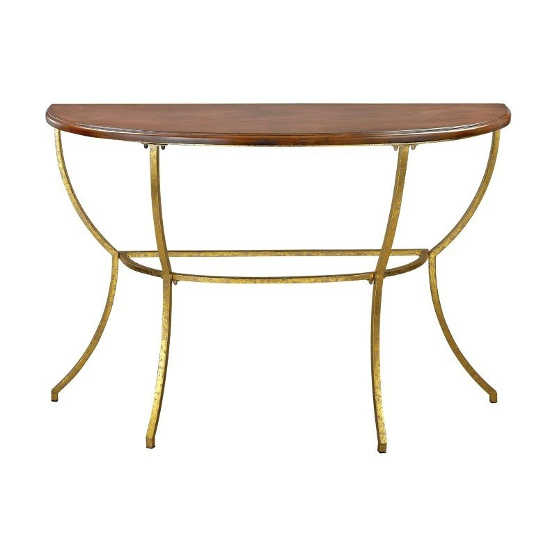 Sterling Industries Balart Walnut and Gold Console