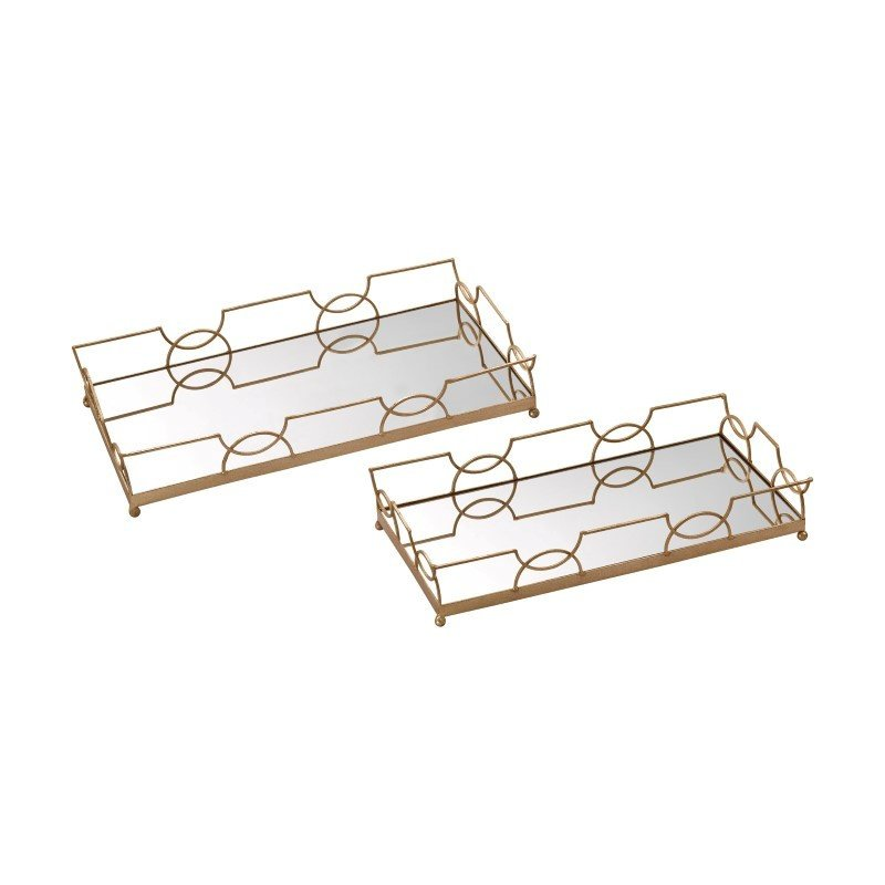 Sterling Industries Bow Tie Mirrored Trays