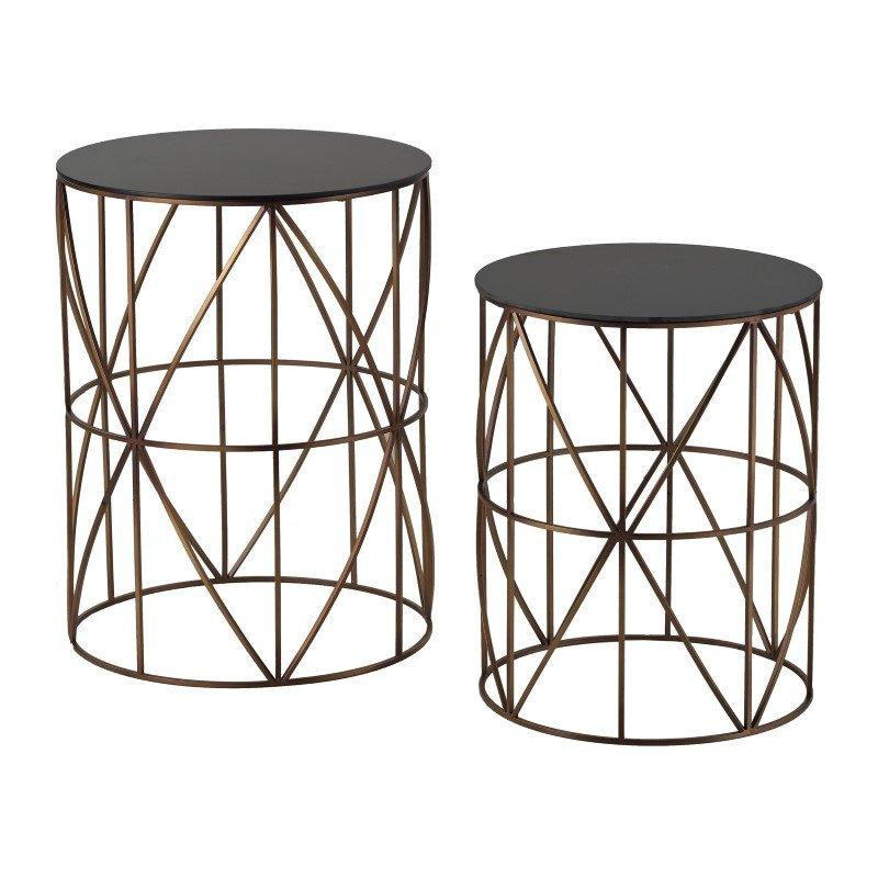 Sterling Industries Bradfield Drum Side Tables (Set of 2)