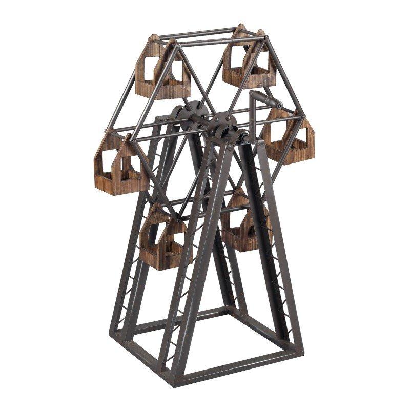Sterling Industries Bradworth-Industrial Ferris Wheel Candle Holder