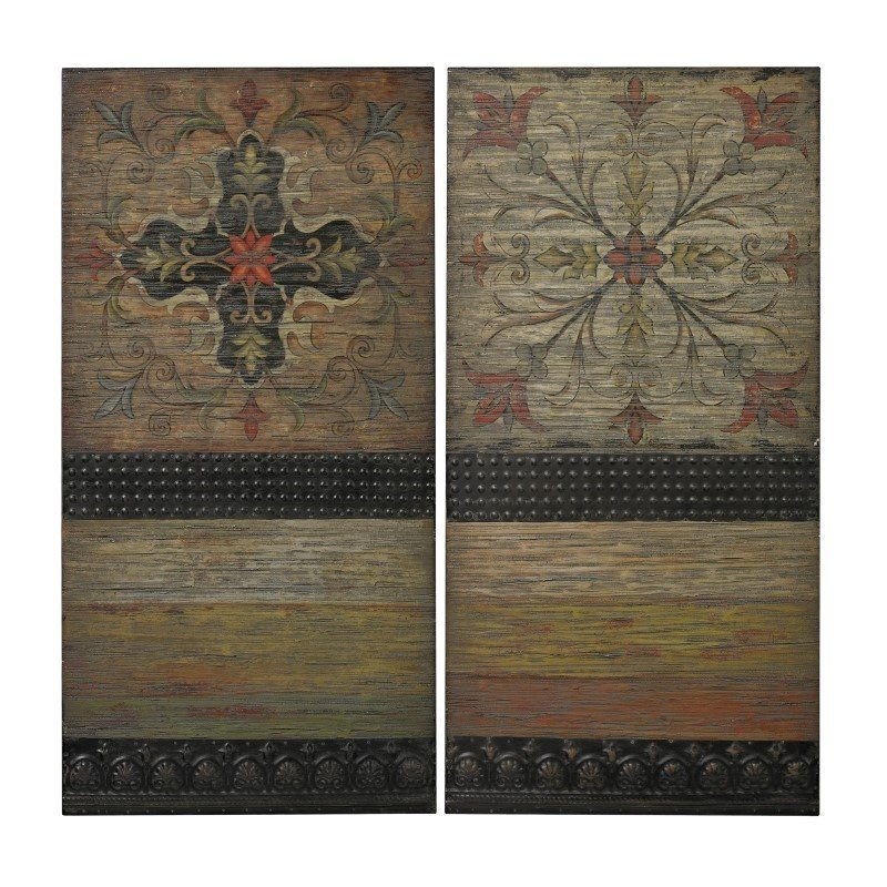 Sterling Industries Brichell-Handpainted Spanish Tiles On Wooden Panels