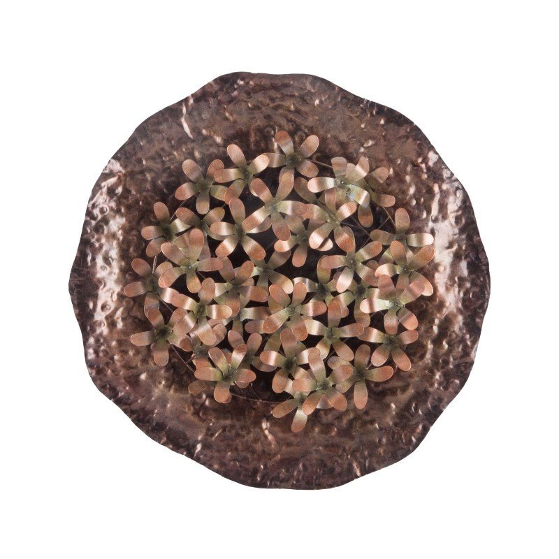 Sterling Industries Bronze Poppy Bunch Wall Plate