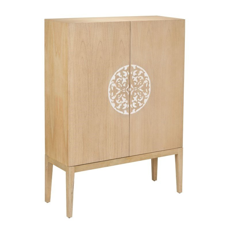 Sterling Industries Cabinet 2 Doors with Resin Accent