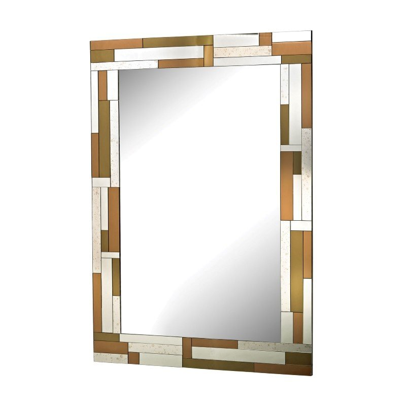 Sterling Industries Copper Geometric Mirror