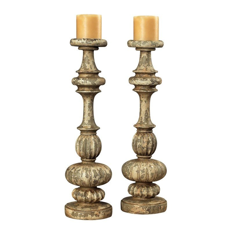 Sterling Industries Flemish Carved Candle Holders