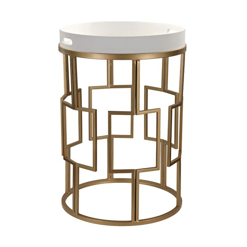 Sterling Industries Gold and White Accent Table