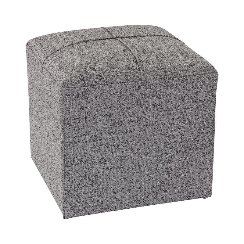 Sterling Industries Grey Cube Ottoman