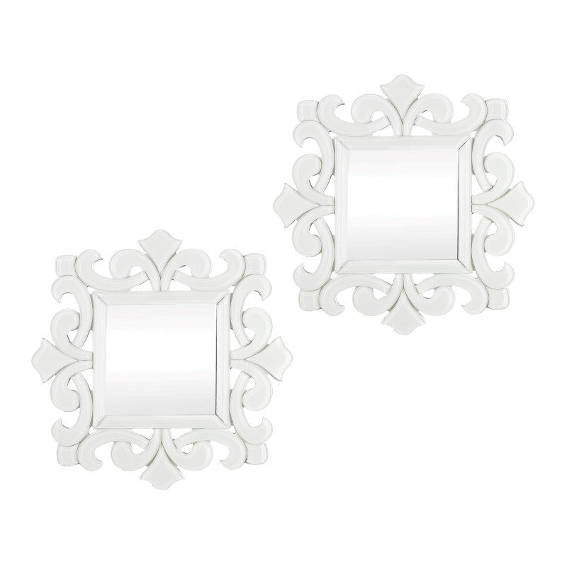 Sterling Industries Haylee Mini Scroll Work Framed Mirrors (Set of 2)